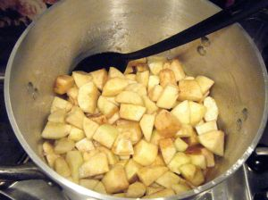 Edited - cooked apples