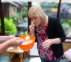 Edited - Linda enjoying the cream