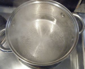 Edited - simmering water